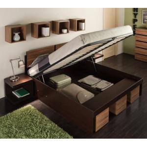 Кровать Hyper с подъемным механизмом (венге/полисандр)