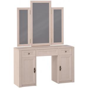Стол туалетный 2 с зеркалом, дуб млечный Montpellier