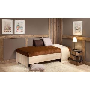 Кровать Эко дуб сонома (без основания)