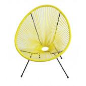 Кресло Acapulco yellow из ротанга
