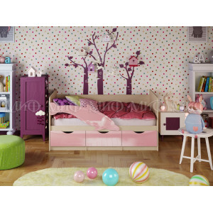 Детская кровать Дельфин 1 розовый