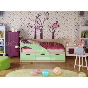 Детская кровать Дельфин 1 салатовый
