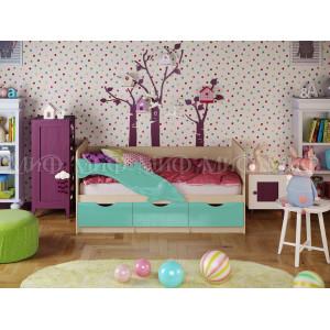 Детская кровать Дельфин 1 бирюзовый