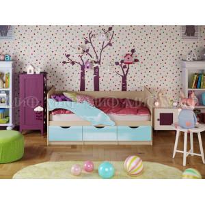 Детская кровать Дельфин 1 голубой