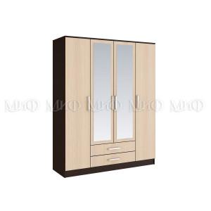 Шкаф для одежды 4 х - дверный Фиеста