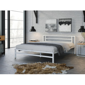 Кровать 4 Сезона ТИТАН металл белый