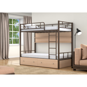 Двухъярусная кровать 4С ВАЛЕНСИЯ (металл)
