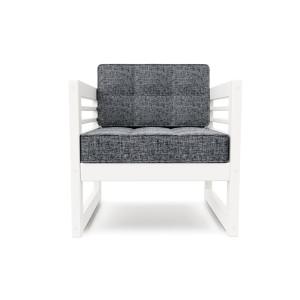 Кресло AnderSon Сега белый-серый