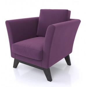 Кресло AnderSon Дублин фиолетовый