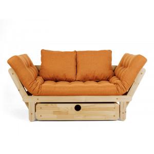 Кушетка AnderSon Сламбер BOX с ящиком оранжевый