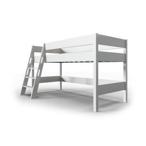 Кровать чердак детская AnderSon Линда белый