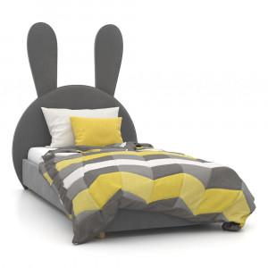 Кровать мягкая с ушками Зайчик
