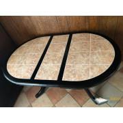 Стол Шале Грэксон-2 овальный обеденный с плиткой раздвижной