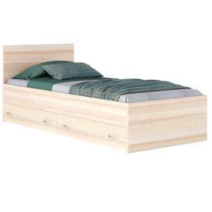 Кровать Виктория (Дуб) с ящиками с матрасом ГОСТ