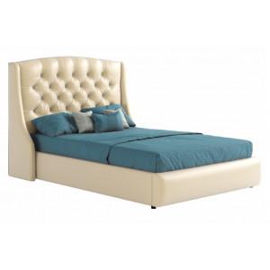 Мягкая кровать Стефани бежевая с подъемным механизмом