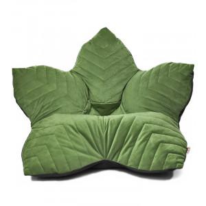 Кресло мешок Цветок в велюре Maserrati с отделкой