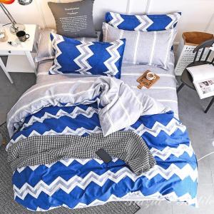 Постельное белье сатин  Modern Zigzag Blue