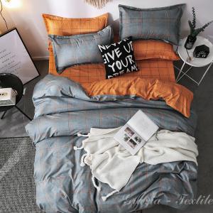 Постельное белье сатин Design Orange Stripe