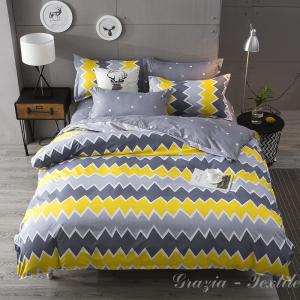 Постельное белье сатин Design   Yellow Zigzag