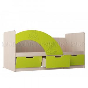 Детская кровать Юниор-3 салатовый
