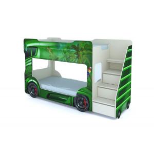 Кровать машинка двухъярусная детская ВиВера Автобус