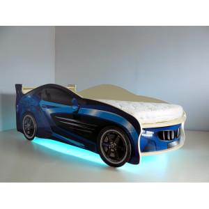 Кровать машинка детская ВиВера Форсаж синий