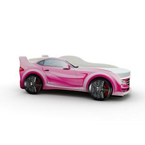 Кровать машинка детская ВиВера Мерседес розовый
