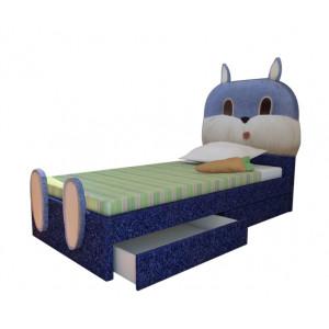 Кровать ВМК Шале из экокожи Зайка детская