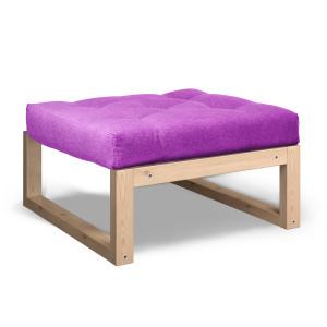 Пуф AnderSon из массива дерева Амбер фиолетовый