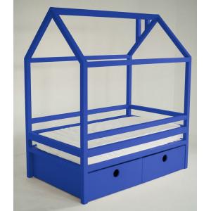 Детская кровать домик AnderSon Дрима BOX синяя