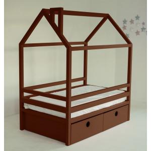 Детская кровать домик AnderSon Дрима BOX коричневая