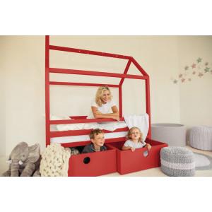 Детская кровать домик AnderSon Дрима BOX красная