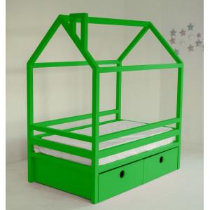 Детская кровать домик AnderSon Дрима BOX зеленая