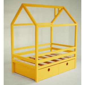 Детская кровать домик AnderSon Дрима BOX желтая
