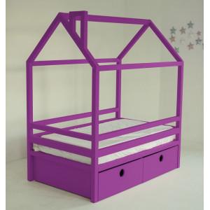 Детская кровать домик AnderSon Дрима BOX фиолетовая