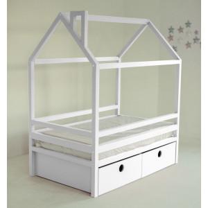 Детская кровать домик AnderSon Дрима BOX белая
