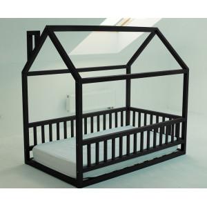 Детская кровать домик AnderSon Дрима МБ черная