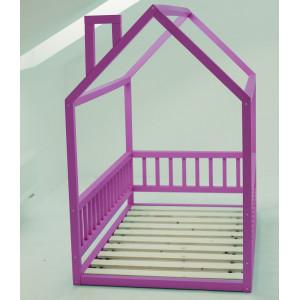 Детская кровать домик AnderSon Дрима МБ фиолетовая