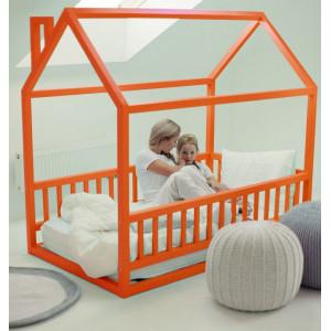 Детская кровать домик AnderSon Дрима МБ оранжевая