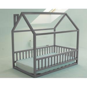 Детская кровать домик AnderSon Дрима МБ серая