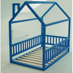 Детская кровать домик AnderSon Дрима МБ синяя