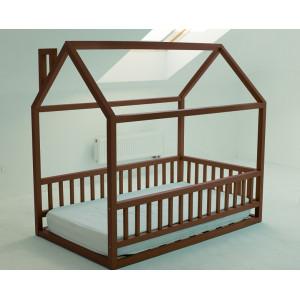Детская кровать домик AnderSon Дрима МБ коричневая