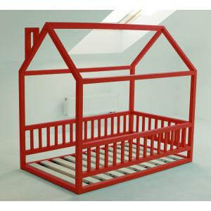 Детская кровать домик AnderSon Дрима МБ красная