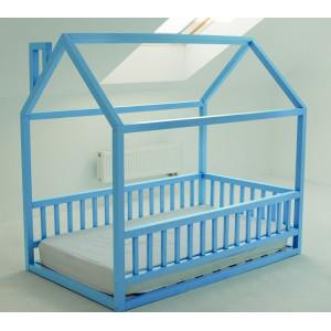 Детская кровать домик AnderSon Дрима МБ голубая