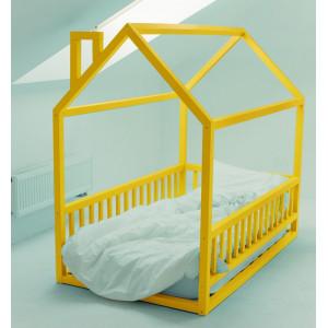 Детская кровать домик AnderSon Дрима МБ желтая