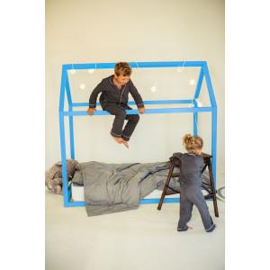 Детская кровать домик AnderSon Дрима Base (голубая)