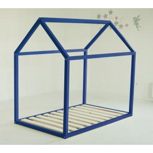 Детская кровать домик AnderSon Дрима Base (синяя)