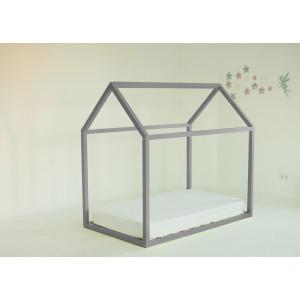 Детская кровать домик AnderSon Дрима Base (серая)