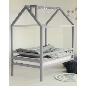 Детская кровать домик AnderSon Дрима H (серая)