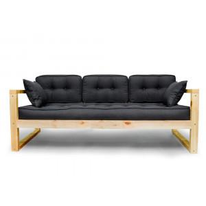 Диван AnderSon Астер прямой деревянный черный